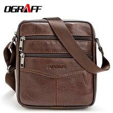 OGRAFF Hommes messenger sacs de luxe en cuir véritable hommes sac designer haute qualité épaule sac casual zipper bureau sacs pour hommes