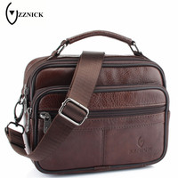 ZZNICK 2017 New Brand Designer Men S Cross Body Shoulder Bags Genuine Leather Business Bag High
