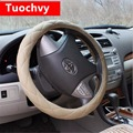 Car Steering Wheel Cover Universal 38CM  Senior Swimwear PU Material Anti-slip Car Wheel Cover Protector