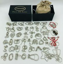 Nieuwe Set Van 30/41/46 Pcs Metalen Puzzel Mind Brain Teaser Magic Draad Ringen Puzzels Game Speelgoed voor Kinderen Volwassenen