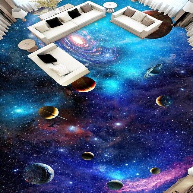 Online Shop beibehang Cosmic galaxy stars Floor Wallpaper For ...
