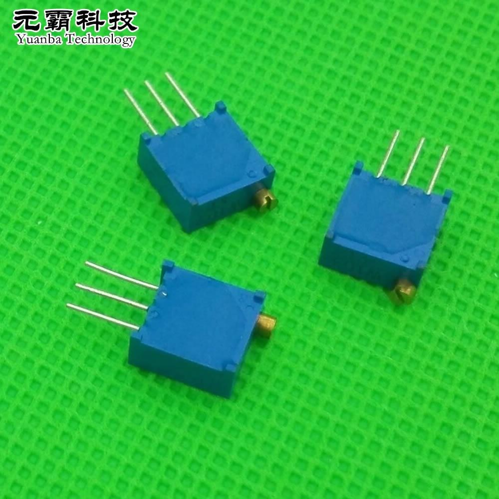 50pcs 3296W-501 3296 W 500R ohm Trim Pot Trimmer Potentiometer NEW
