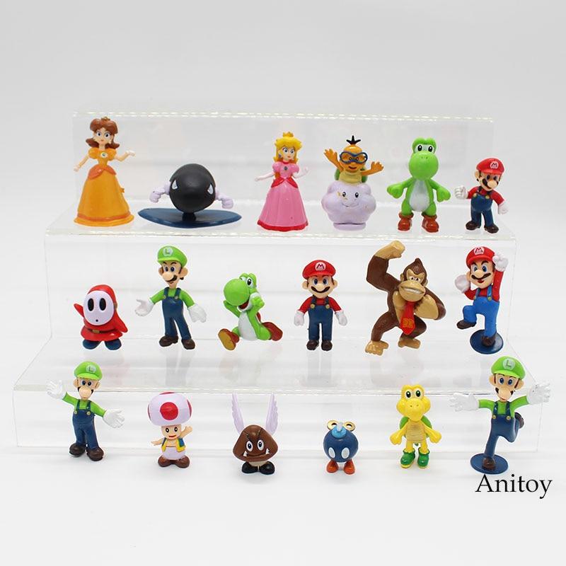 Wholesale Retail Free Shipping Plastic Super Mario Bros PVC Action figures Toys Dolls 18pcs/set KT3863Wholesale Retail Free Shipping Plastic Super Mario Bros PVC Action figures Toys Dolls 18pcs/set KT3863