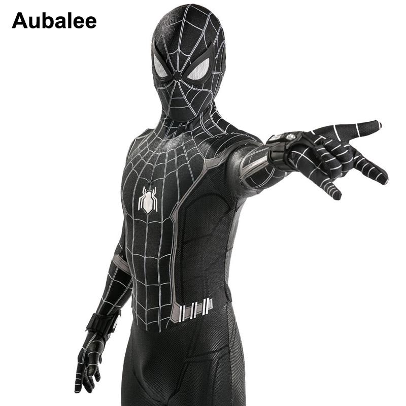 Новый домашний костюм Человека паука для взрослых и детей, черный темный костюм Человека паука, костюм Веном на Хэллоуин, 3D спандекс, косплей, одежда