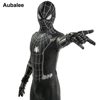 цена New Spider Man Homecoming Suit Adult Children Black Dark Spiderman Costume Venom Halloween 3D Spandex Cosplay Clothing онлайн в 2017 году