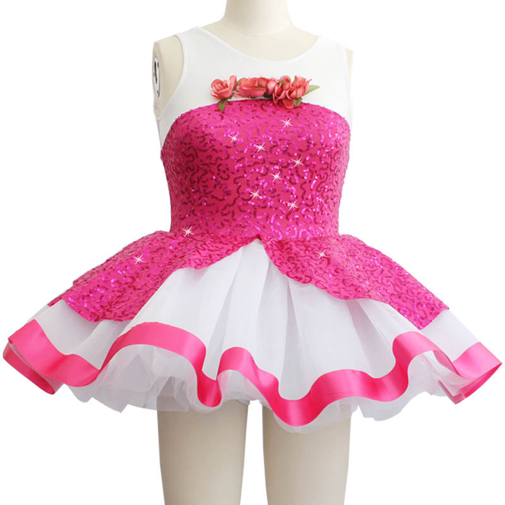 Adult Young Girl Ballet Dancing Skirt Pink Sunglasses Sequins Female Dance Skirt New Performance Costumes Uniforms