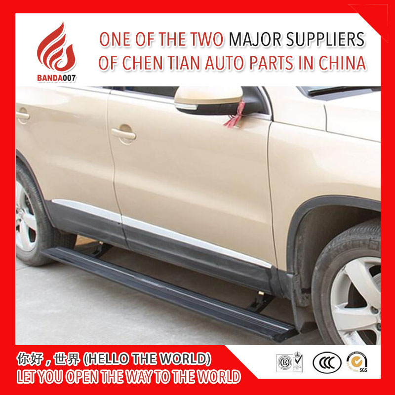 High quality aluminium alloy Automatic scaling Electric pedal side step running board for Tiguan 2011 2017