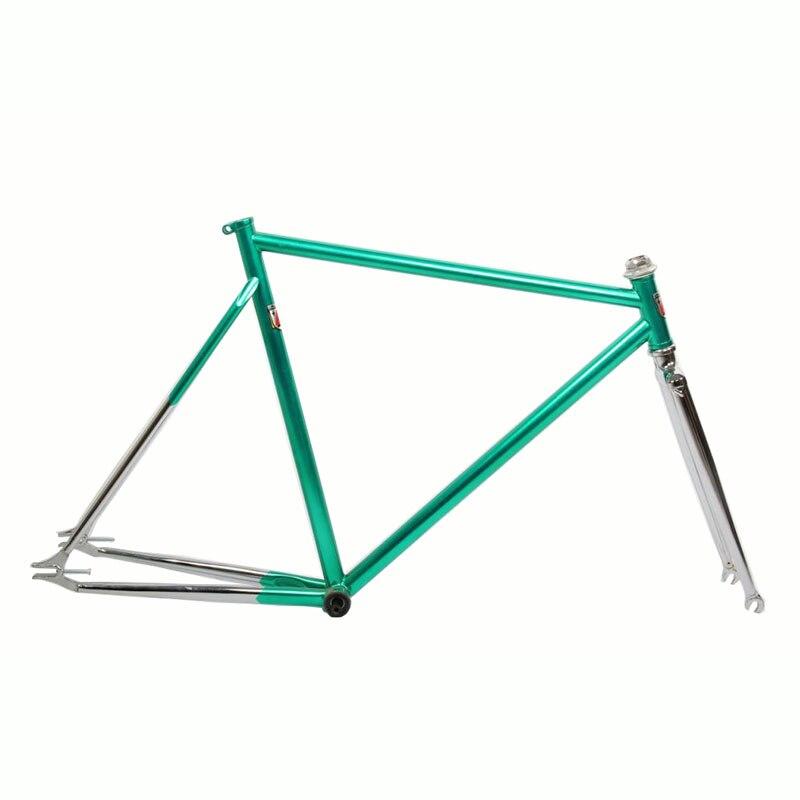 Фиксированный Шестерни велосипеда хром молибденовой стали восстановление древних золотое покрытие велосипеда 700c велосипед 54 см 56 см раме ...