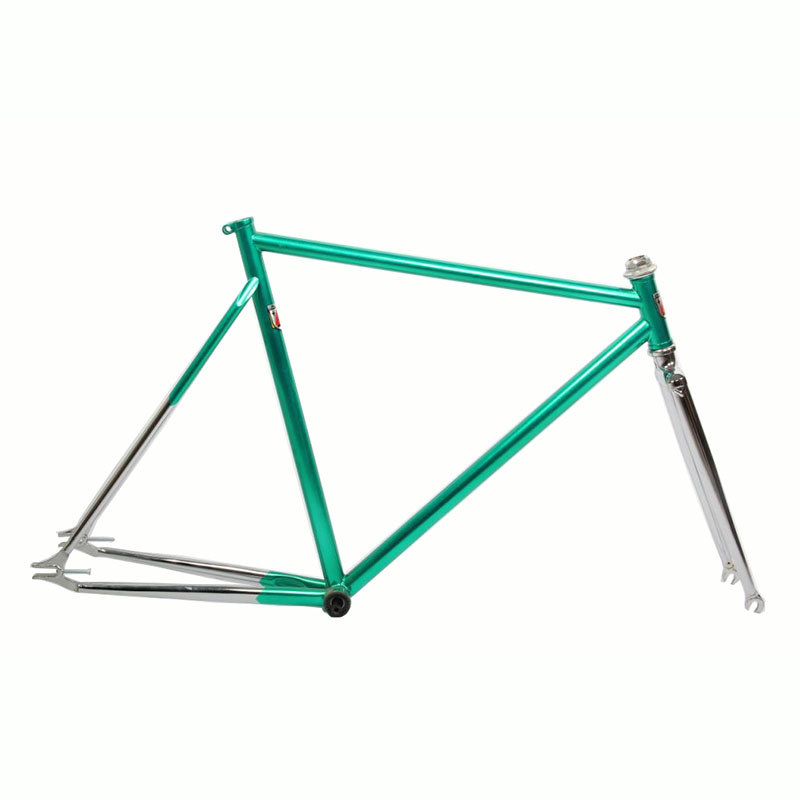 Fixed Gear Bike frame Chrome molybdenum steel restoring ancient Gold plating  bike frame 700C bike  54cm  56cm bicycle frame цена и фото