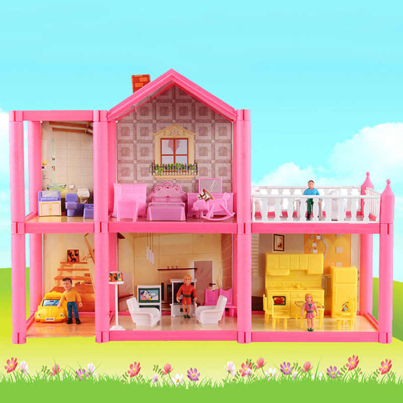 Handmade Casa Delle Bambole Castle FAI DA TE Casa Giocattolo In Miniatura Casa Delle Bambole Regali Di Compleanno Giocattoli Educativi Bambola Villa Ragazza FAI DA TE Giocattolo
