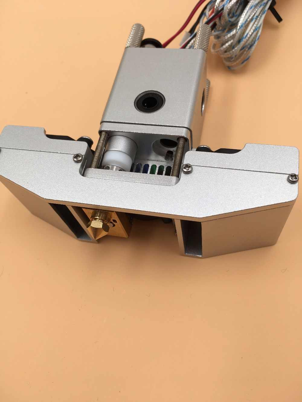 Ultimaker 2 + 3D Printer Panas Akhir Penuh Kit Aluminium Penuh Dibuat, 1.75/3 Mm Olsson Blok dan Nozzle PT100 Sensor dan Cartridge Heater