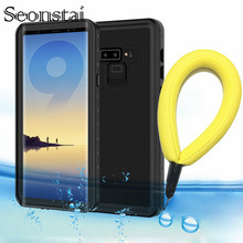 Seonstai Waterproof Phone Cases for Samsung Note 9 Outdoor Sport Proof Protector S9 S9Plus Summer Swimming Coque