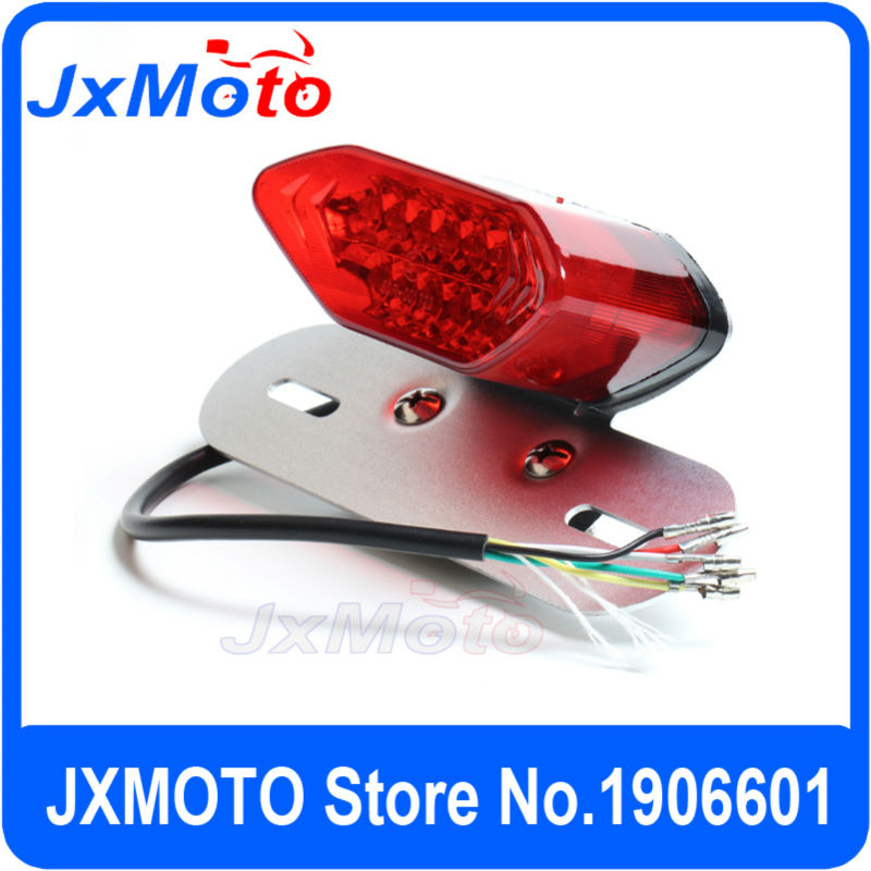 16 LED Motorcycle ATV Quad Motorcycle DAX Monkey Bike Lights Tail Turn Signal Brake License Plate Integrated Light