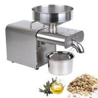 700W Oil Press Machine Home Automatic Oil Extractor for Hot Cold Coconut Olive Flax Peanut Castor Hemp Seed Oil Expeller