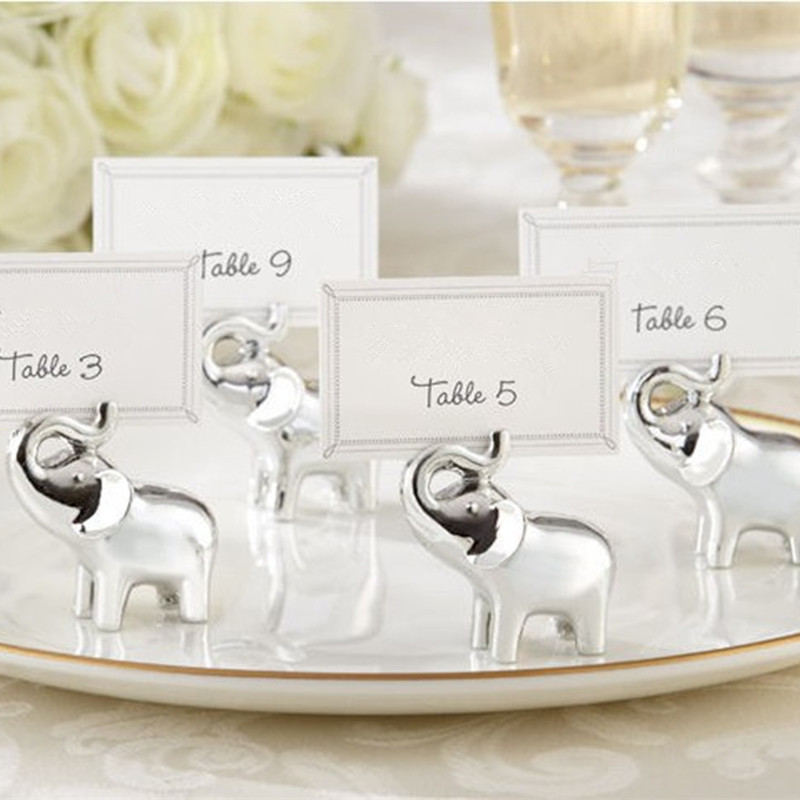 Resin Card Holder Table Sign Party Direction For Wedding Birthday Party Creative Table Card Holder Elephant Animal Shape 1 PC