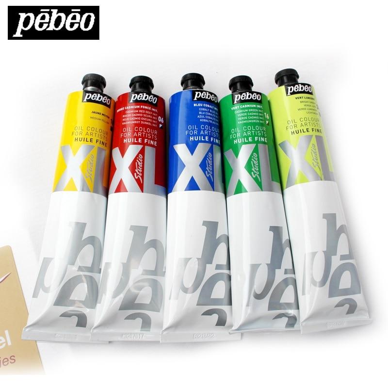 Pebeo Studio XL S1 200ml Oil Paints Professional Painting High-capacity Student Art Pigments Leather Pigment