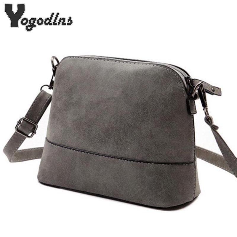 Nova moda das mulheres saco do mensageiro saco shell matagal Couro Nobuck pequeno crossbody sacos sobre o ombro bolsa das mulheres