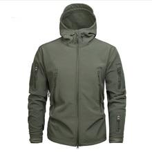 Men's Army Camouflage Shark Skin Soft Shell Jacket and Coat Military Tactical Jacket Waterproof Jackets Windbreaker Hunt Clothes цена и фото