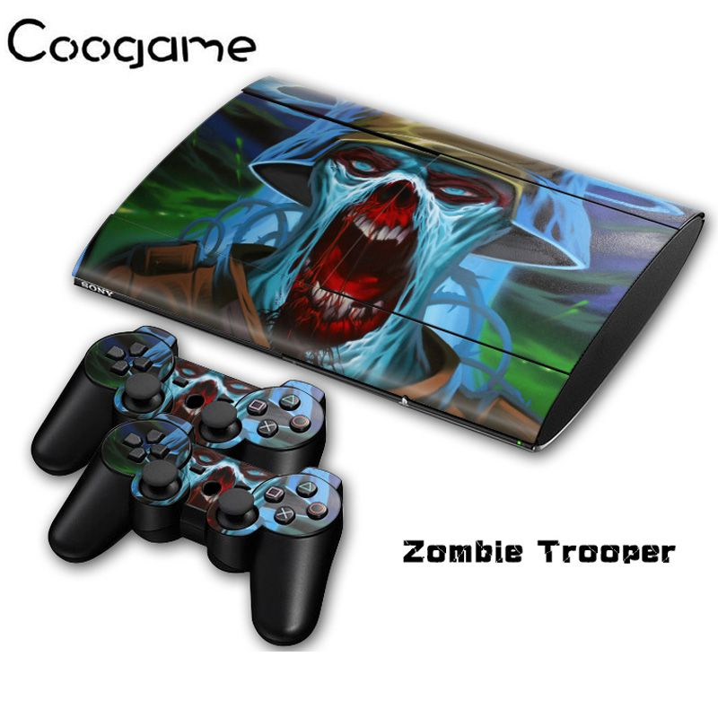 Zonbie Decoration Skins Sticker For PalyStation 3 Slim 4000 Console Stickers Joystick Pads Protector Decal For PS3 Super Slim