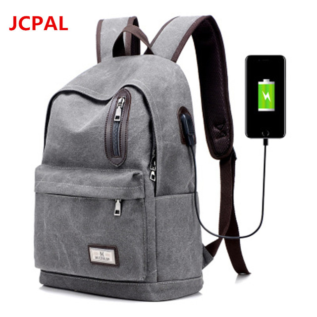 f9f918db4f4 2017 Men Male Canvas Backpack College Student School Backpack Bags for  Teenagers Vintage Mochila Casual Rucksack Travel Daypack