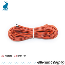 30 meters 12K 33ohm infrared carbon fiber heating wire Heating cable system European heating equipment safe