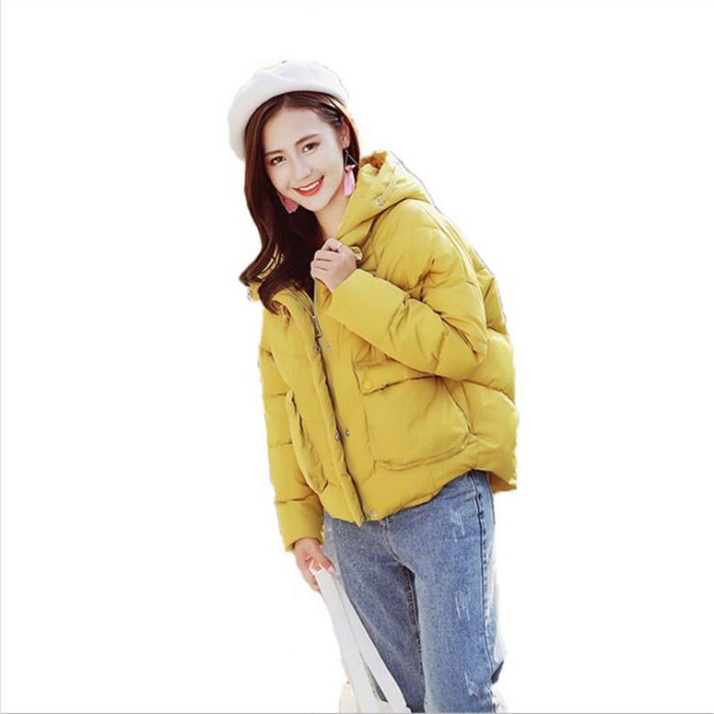 2018 women winter   basic     jacket   ultra light color spring coat female short cotton outerwear jaqueta feminina