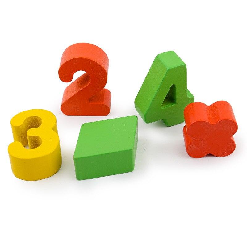 Conjunto de Brinquedos De Madeira de Matemática