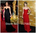 Watch!Simple Style Sweetheart Off The Shoulder Empire Little Train Corset Chiffon Evening Dresses Celebrity Dresses Women CD001