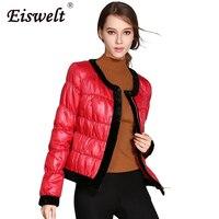 EISWELT Plus Size Vintage Warm Winter Down Coat Women Slim White Duck Down Jacket Women Thin