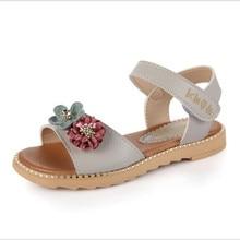 Дівчата сандалі 2018 нові великі рибки рот княгиня туфлі дитячі пляжні туфлі початкових класів школярів літня квартира