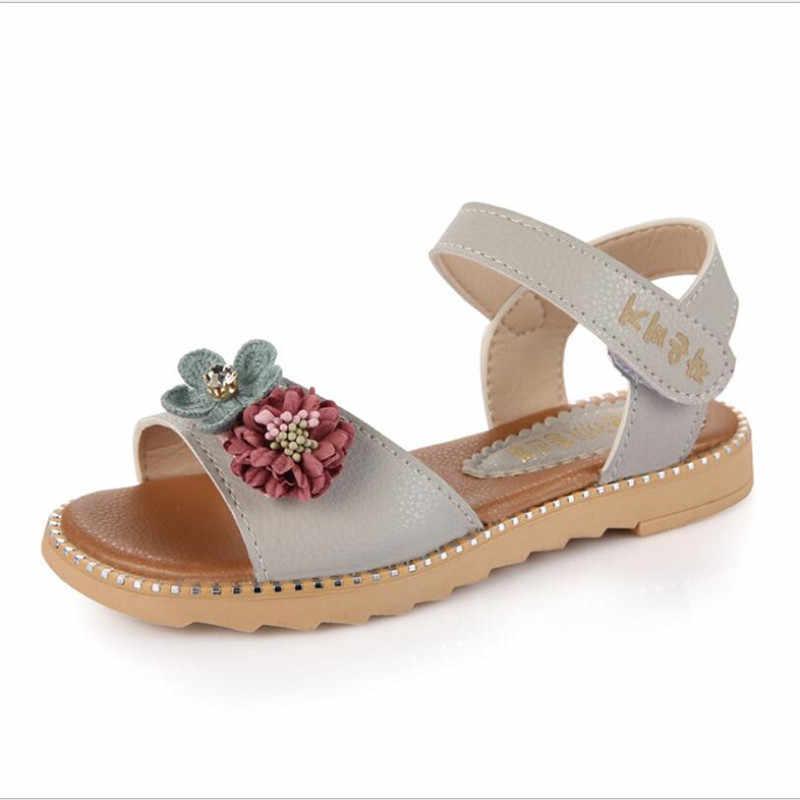 Sandali delle ragazze 2020 nuovo grande bocca dei pesci della principessa scarpe scarpe da spiaggia per bambini della scuola primaria studenti di estate piatto