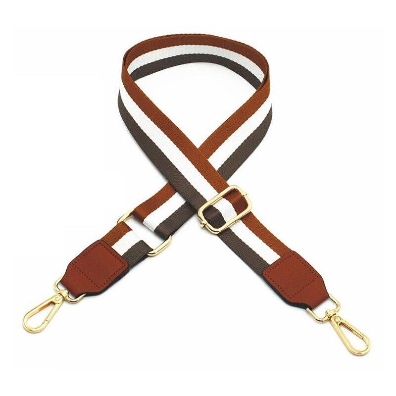 Handbag Strap Nylon Striped Woven Strap for 2019 Women Crossbody Shoulder Bag Handbag Adjustable Belt Bag Accessories Part 125cm in Bag Parts Accessories from Luggage Bags