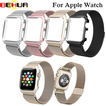 Strap For Apple Watch Band Milanese Loop with Stainless Steel Metal Case Magnetic iWatch strap For Apple Watch 42mm Series1 / 2 hot sale hoco 3 colors milanese band for huawei watch 42mm with magnetic closure and beautiful retail package