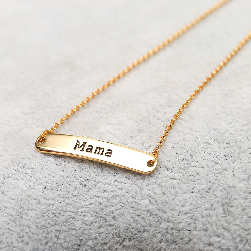 2017 Thankgiving Gifts For Mother MaMa Letters Nameplate Pendant Gold Pendant Stainless  ...