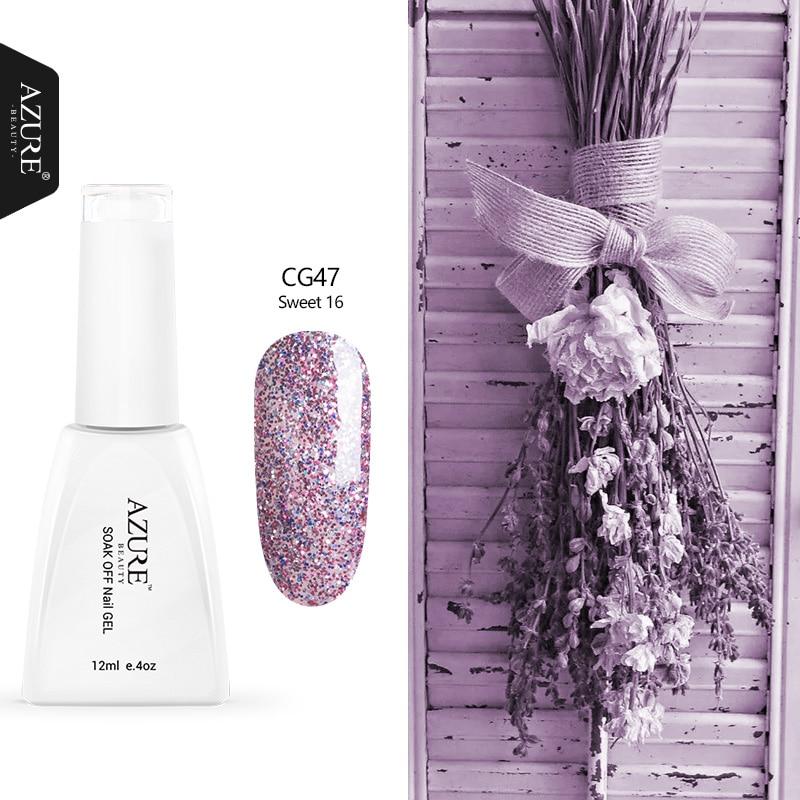Azure Beauty Fashion Purple Color UV Led Nail Gel Polish 120 Colors Nail Gel Lacquer Nail Art Glitter UV Gel Polish Nail Art