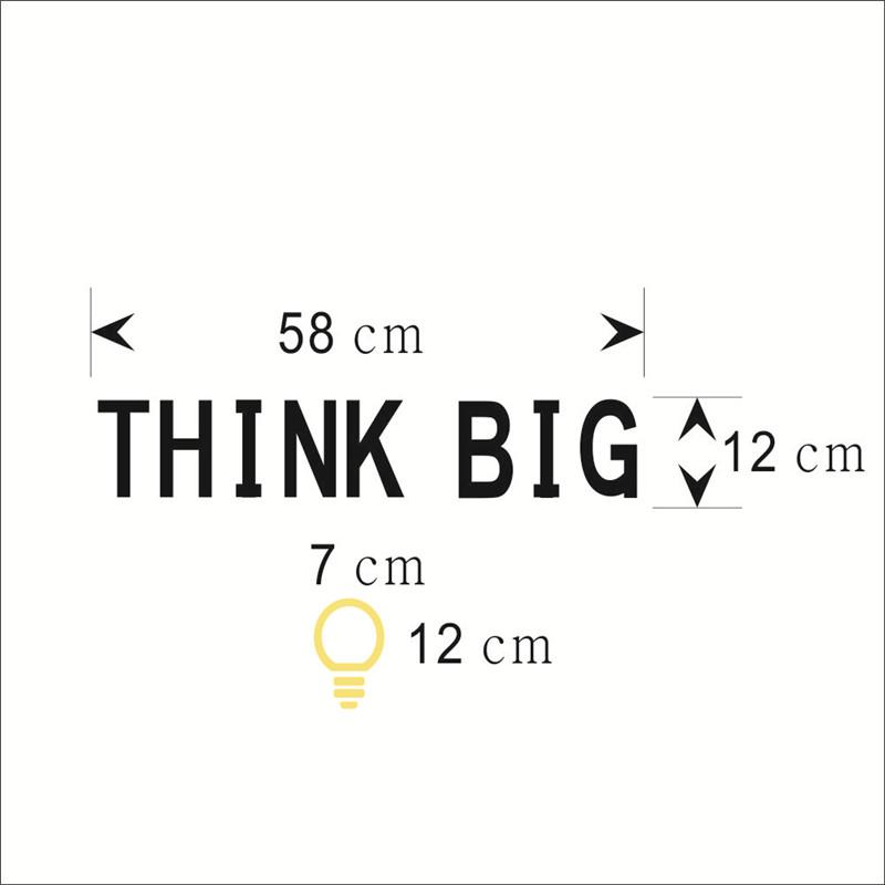 HTB1Kty0KpXXXXX4XVXXq6xXFXXXD - THINK BIG Removable Vinyl Quotes Wall Sticker-Free Shipping