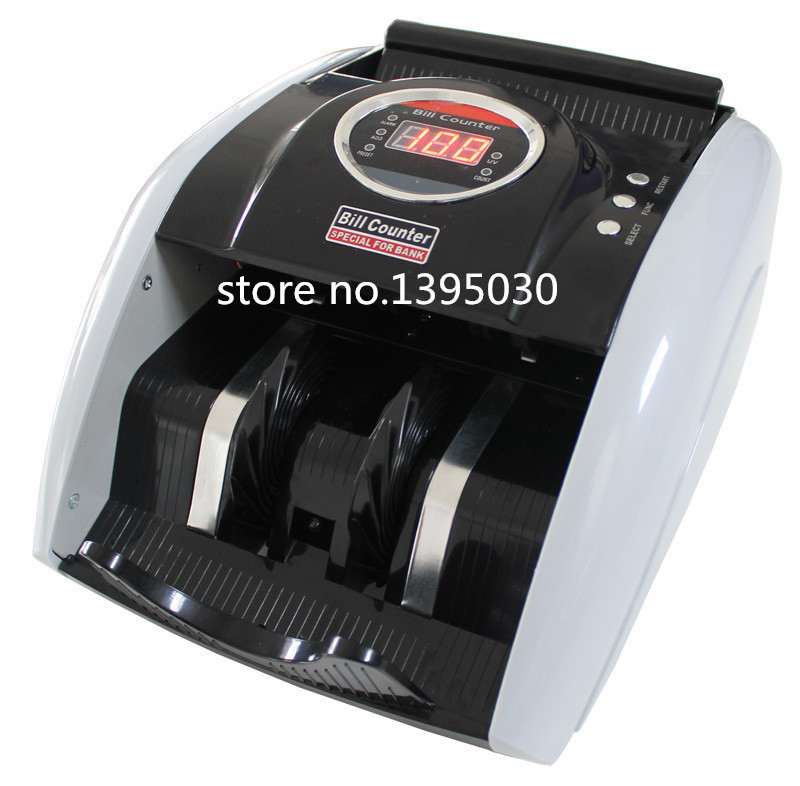 ФОТО 110V / 220V Money Counter Suitable for EURO US DOLLAR etc. Multi-Currency Compatible Bill Counter Cash Counting Machine 1pc