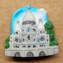 France Paris Sacred Heart Church European creative 3D three - dimensional resin refrigerator