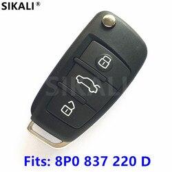 SIKALI Car Remote Key for Audi A3 S3 A4 S4 TT 434MHz 8P0837220D 8P0 837 220 D 220D 2005 2006 2007 2008 2009 2010 2011 2012 2013