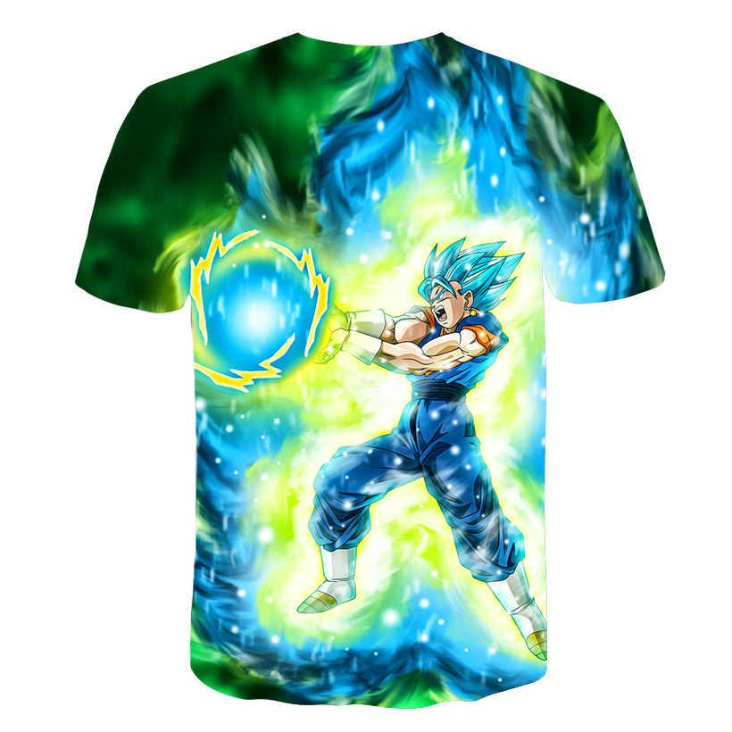 2019 Новая мужская 3D футболка Dragon Ball Z Ultra Instinct Goku Super Saiyan God Blue Vegeta с рисунком, летняя футболка