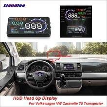 Liandlee Car HUD Head Up Display For Volkswagen VW Caravelle T5 Transporter Safe Driving Screen OBD Projector Windshield