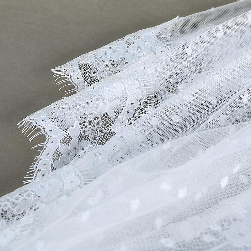 Robe Piste Blanc Femmes Haute Longue 2018 Zim Noir Boho Longues À Couche Manches blanc Dentelle Automne Noir Ruches Qualité Desinger qXcgC
