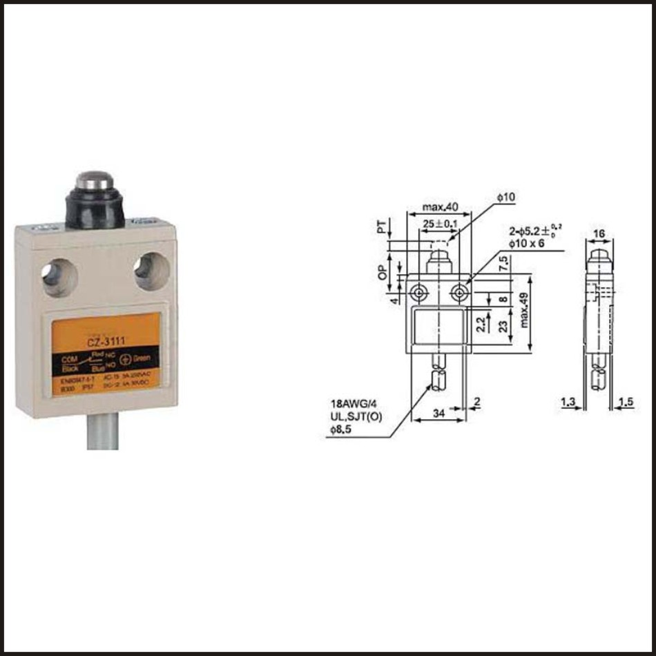 uxcell TZ-3169 Cat Whisker Flexible Coil Spring Limit Switch Momentary Compact Prewired 1NC 1NO
