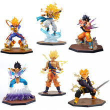 Super Saiyan 3 Majin Buu Vegeta Trunks Son Goku Freezer PVC Action Figures Dragon Ball Z Figuarts Collectible Model Toys