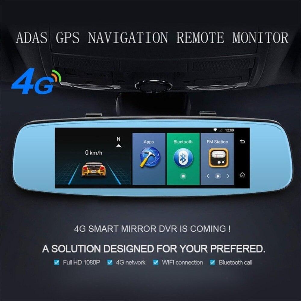 4G ADAS Car DVR Camera Video Recorder Mirror 7.86 Android 5.1 with Two Cameras Dash Cam Registrar Black Box 16GB