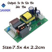 1 pces sanmin ac220v para dc5v 9 v 12 v 15 v 24 v 15 w interruptor step-down fonte de alimentação módulo isolado bare board GPC15A-15W l121