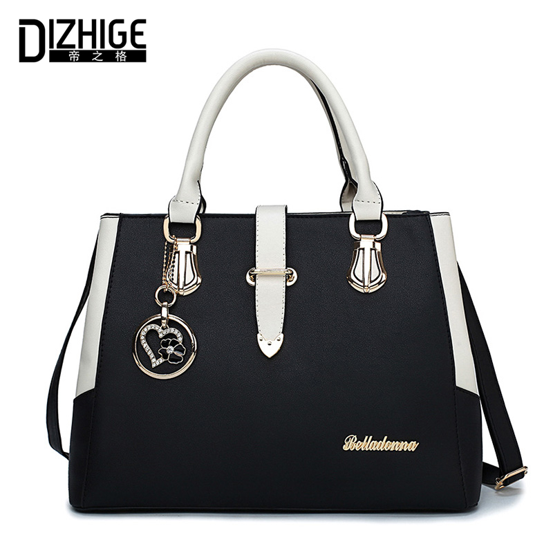 DIZHIGE Brand Luxury Handbags Women Bags Designer Shoulder Bag Women High Quality PU Leather Ladies Hand Bags New Sac Femme 2018 mengxilu brand tote luxury handbags women bags designer handbags high quality pu leather bags women crossbody bag ladies new sac
