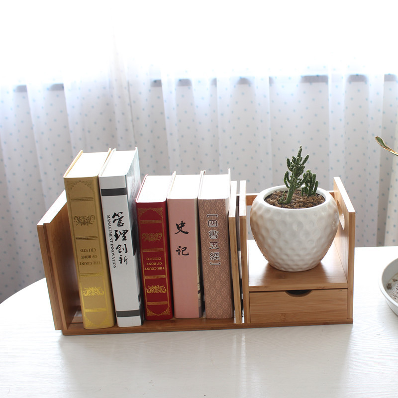 Affordable Buy Bamboo Retractable Table Ikea Bookcase Bookcase Student  Office Desktop Storage Rack Simple Creative Glove Bookshelf From Reliable  With Table ...