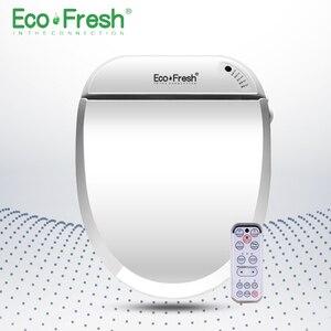 EcoFresh Смарт сиденье для унитаза Электрический биде крышка умный биде тепло чистый сухой Массаж Уход для ребенка женщина старый