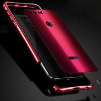 For HUAWEI Honor 8 Plating Metal Case Luxury 3 In 1 Aluminum Bumper Acrylic PC Back